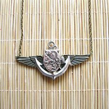 foryou стимпанк винтажный ожерелье кулон морской якорь часы лицо часы Gear sp245
