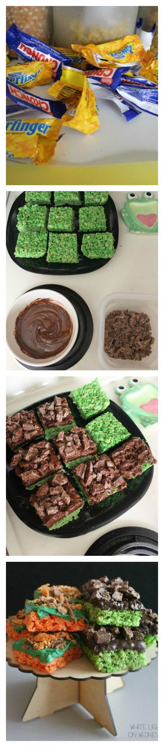 Steps to Make Your Own Frankenstein & Pumpkin Rice Cereal Halloween Treats