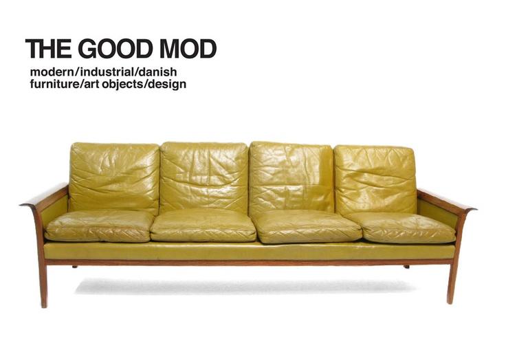 Hans Olsen Rosewood Danish Sofa
