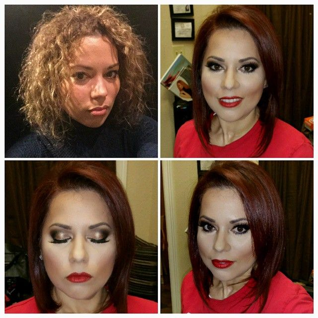 Hair makeover with #CHIcolor cocktail 7RB, 6RB, 6RR, 5C by ...
