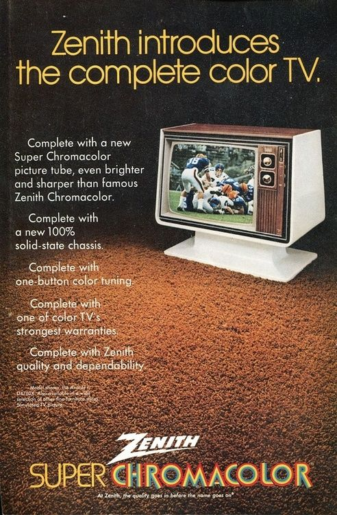 Zenith Super Chromacolor television, 1972.  Our TV growing up.