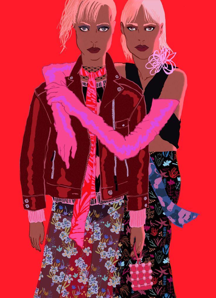 Grunge Chic - Eunjeong Yoo - Fashion illustration