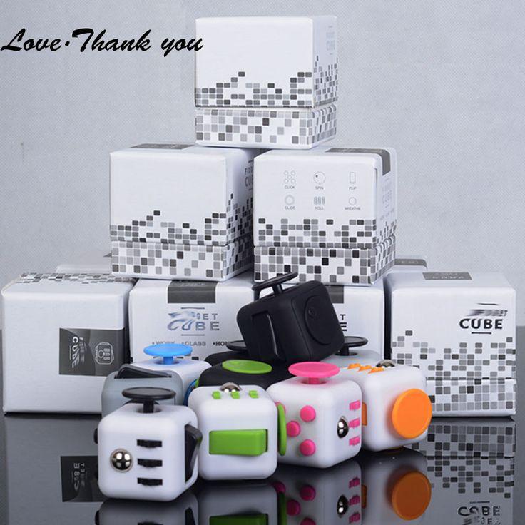 200pcs/lot Fidget Cube wheel Anti stress mini Fidget Cube Vinyl Desk Finger Toys  High Quality Antistress Cubo free DHL 12 color