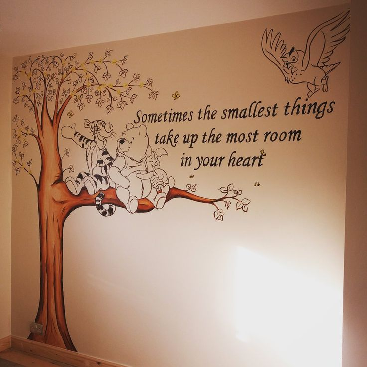 Best 25 winnie the pooh nursery ideas on pinterest for Baby pooh and friends wall mural