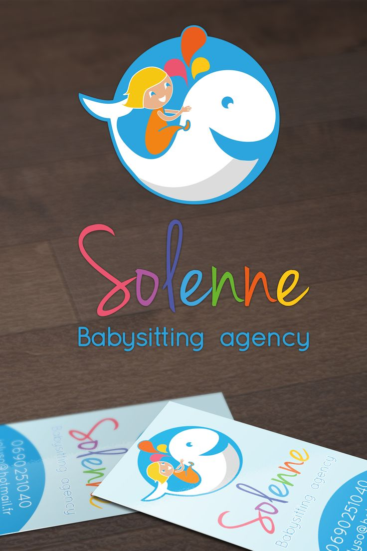 Logo for a babysitting agency on a paradise island. See at https://www.facebook.com/TilioMoulin