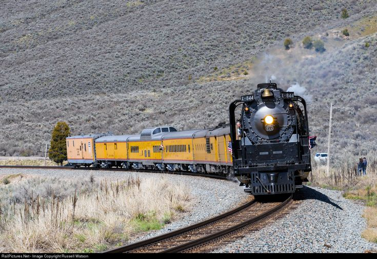 RailPictures.Net Photo: UP 844 Union Pacific Steam 4-8-4 at Pebble, Idaho by Russell Watson