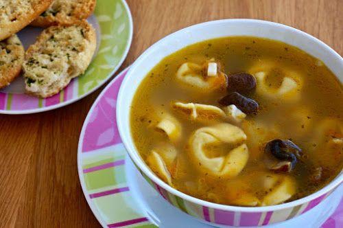 Home food: Суп с грибами и тортеллини / Soup with mushrooms and tortellini