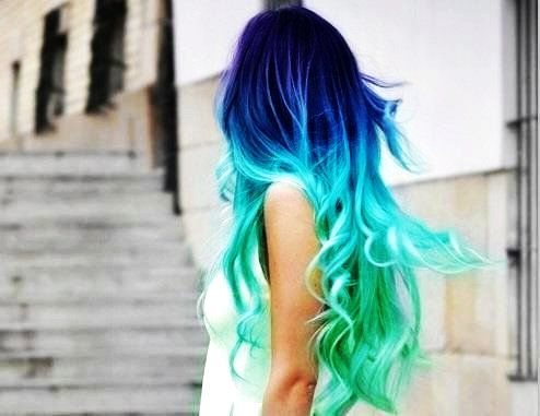 Amazing colours in Temporary Ombre Dip Dye Hair Chalk
