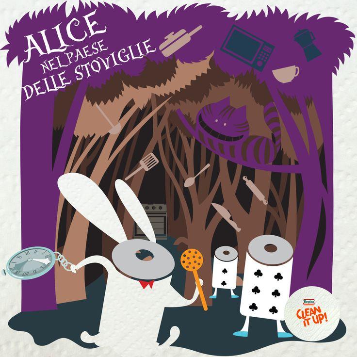 Alice viveva in un mondo tutto suo, pieno di pentole, cucchiai e tante altre posate... :D