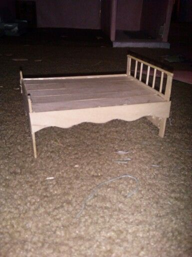 I Made A Doll Bed Out Of Popsicle Sticks And Hot Glue