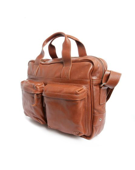 Cognac Acacia Leather Bag VEJA