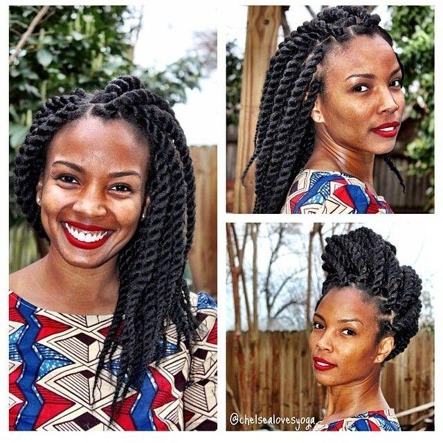 Medium length Marley Twists. #blacksummerhair #coiltherapy