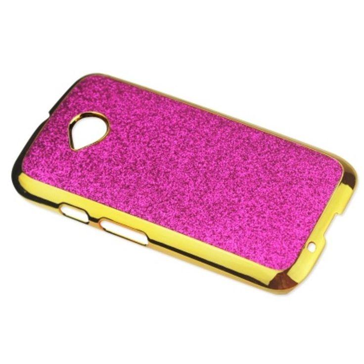 Reiko Glitter Shell Case For Motorola Moto E Lte (2Nd Generation) Pink