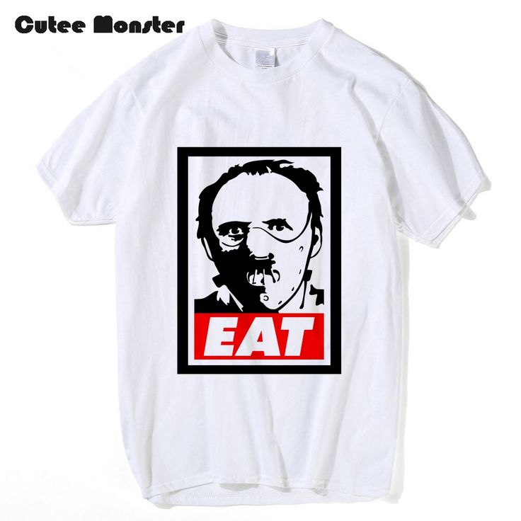 Hannibal Lecter T shirt Men Fashion Hannibal Eat Tees New Summer Men's Short Sleeve T-shirt Cotton Top Clothing 3XL #Affiliate