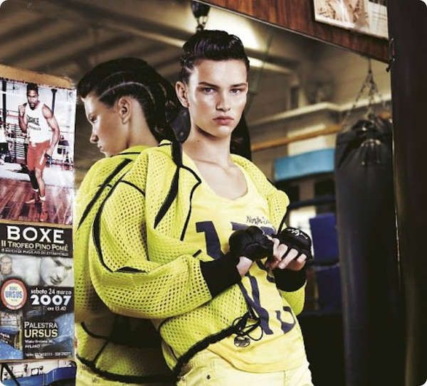 athletic fashion - IO Donna's latest editorial, titled 'Sul Ring,' features some stunning athletic fashion.