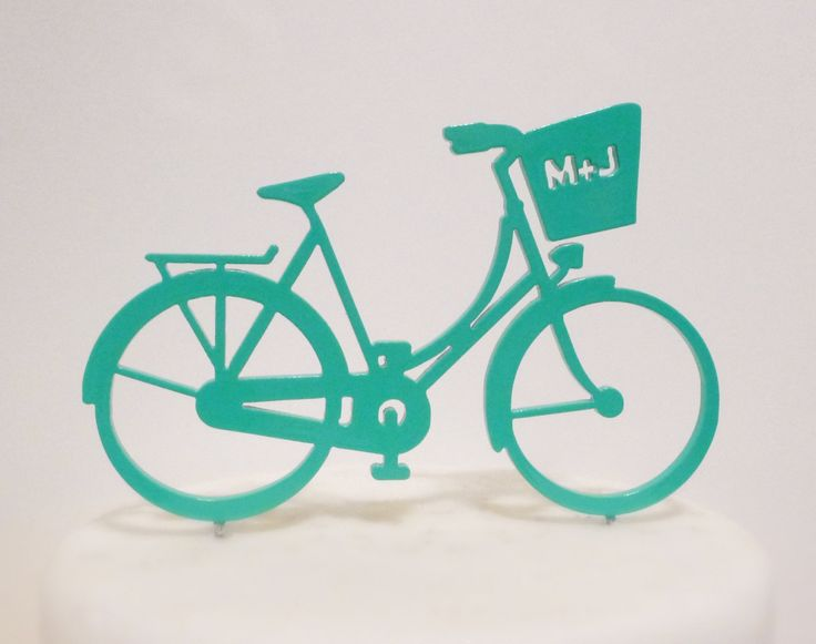 NEW Bicycle Cake topper - Retro