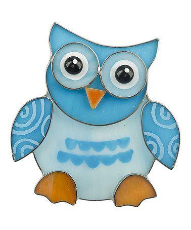 This Blue Heart Owl Night-Light by GANZ is perfect! #zulilyfinds