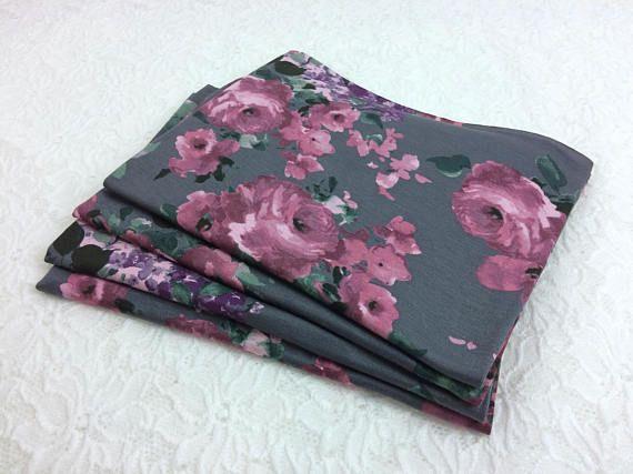 Grey Newborn Stretch Jersey Wrap  Floral Newborn Wrap