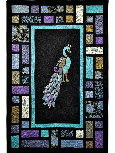 Applique Wall Quilt Patterns - Peacock Quilt Pattern