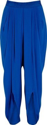 ShopStyle: Willow Pleated silk-crepe harem pants