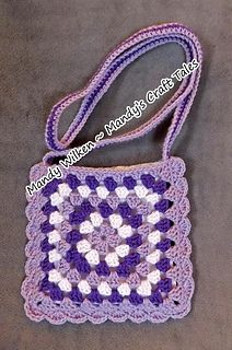 Simple Granny Square Bag - Free crochet pattern by Mandy Wilken from Mandy's Craft Tales