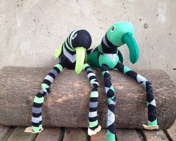 Green Sock Birds R100 each https://www.facebook.com/snugglebuggoodies