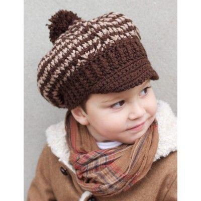 Newsboy's and Girl's Caps, #crochet, free pattern, hat, #haken, gratis patroon (Engels), peuter, kleuter, muts, jongens