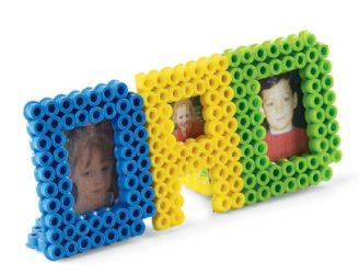 dad frame using pearler beads