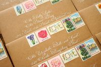 things are better with a parrott: Romantic, Vintage Rhode Island Letterpress Wedding Invitation