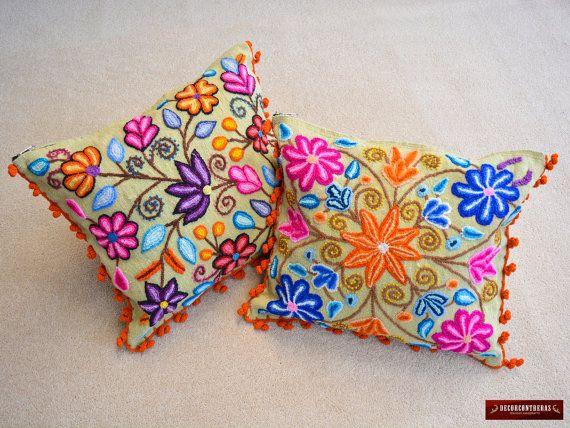 Cojines bordado a mano  - Decoracion para el Hogar - Artesania Peruana - Regalos e ideas  - Decoracion hogar - Regalos - Decorcontreras