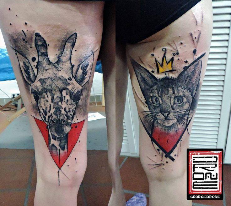 2 x 1,5 hour works to 2 friends.. Did it back in December at Mahakala Tattoo, Ravensburg, Germany. With #starbritecolors. ✅Facebook: https://www.facebook.com/Dronart ✅Instagram: https://www.instagram.com/GeorgeDrone ✅Website: www.dronart.gr