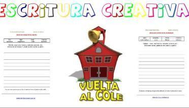 Colección Escritura creativa para el inicio de curso en primaria y eso