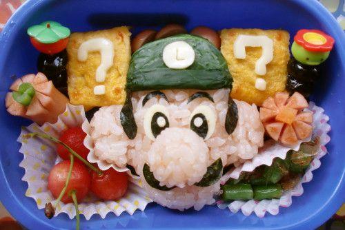 For Charaben (Decorative Bentos) ♪ Luigi from Super Mario Brothers ☆