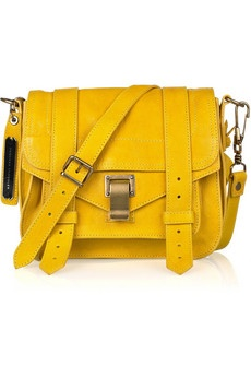 PROENZA SCHOULER  PS1 Small leather satchelLeather Pur, Leather Satchel, Proenza Schouler, Small Leather, Yellow Bags, Style Pinboard, Bags Lady, Schouler Ps1, Ps1 Small