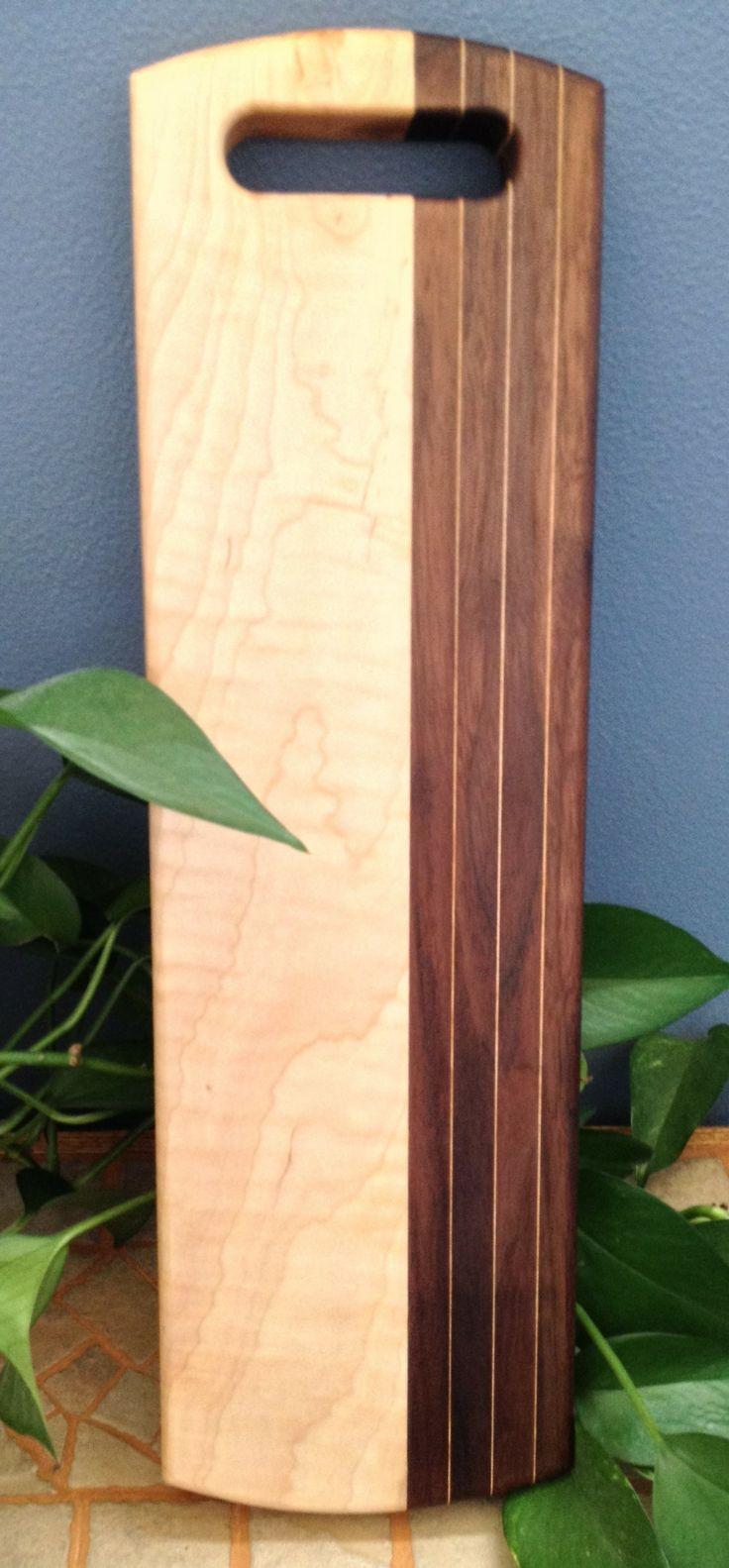 Wood Species: Curly Maple, Walnut