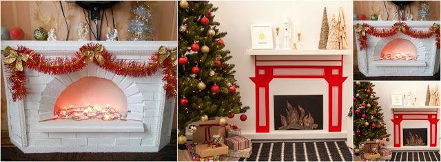 Aprende cómo hacer chimeneas navideñas con cajas de cartón ~ lodijoella