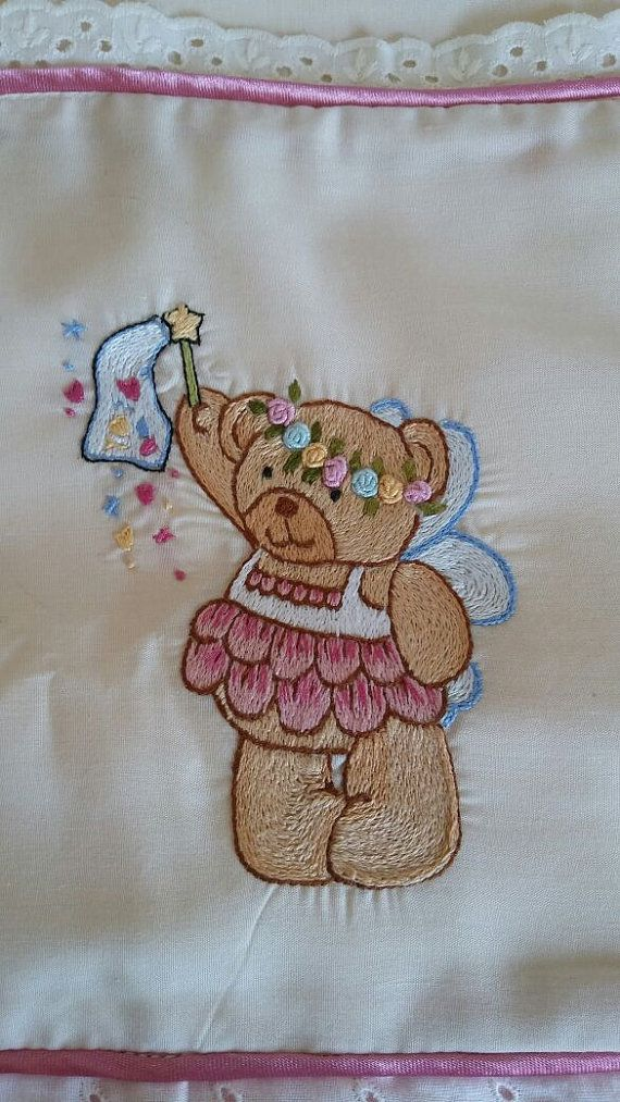 Embroidery baby sheets Embroidered baby bear by KidsBabiesBoutique
