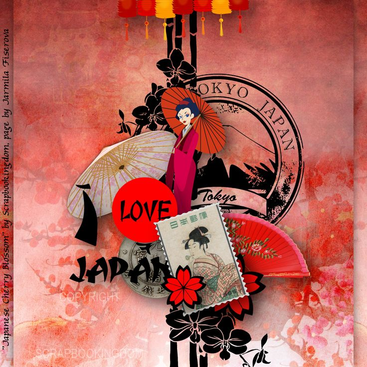 "newsletter freebie ""Japanese Cherry Blossom"" by Scrapbookingdom, http://scrapbookingdom.blogspot.cz/"