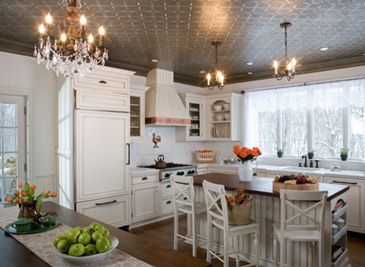 Love this painted ceiling!