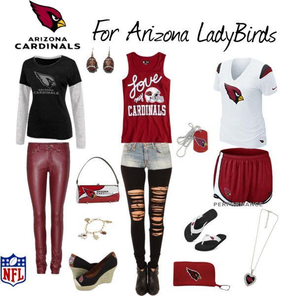 """For Arizona LadyBirds"" by arizonaladybirds on Polyvore Arizona Cardinals Football Fashion Women Love Football NFL Football Outfit"