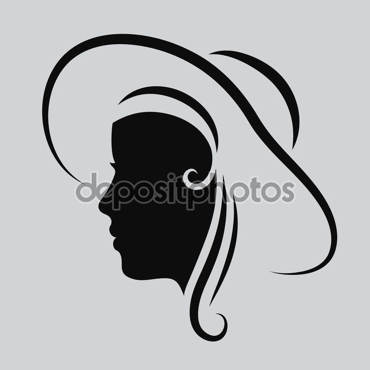 Женщина лицо логотип. Абстрактные логотип. Профиль красивая женщина. Портрет девушки. Шаблон оформления абстрактных логотип для салона красоты, Массаж, косметические и спа, парикмахер, Международный женский день. Вектор — стоковая иллюстрация #107348714