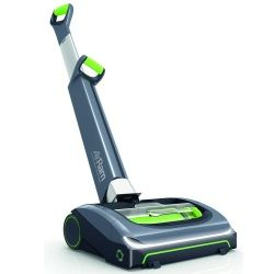 Looking for a lightweight vacuum cleaner?  The Bissell Air Ram could be the right choice.  This is a bagless, cordless, upright vacuum that weighs under 8 lbs and is designed for bare floors, carpet and area rugs.  You can read more in our review.