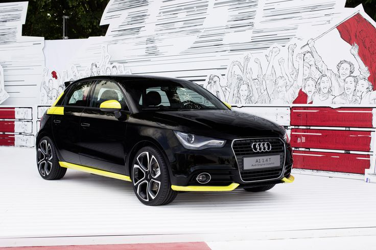 Audi A1 Audia1 Sport Car Black Yellow Gialla Nera