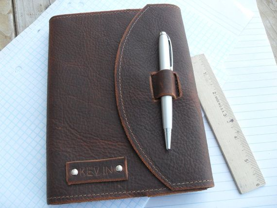 Handmade refillable leather journal with pen The by UrbanCow
