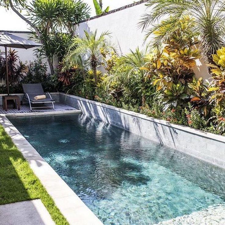Love This Pool Design Schwimmbad Landschaftsbau Kleiner Pool Design Kleine Hinterhof Pools
