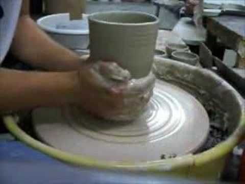 Centering a large piece of clay Pottery Wheel Throwing Demonstration - YouTube