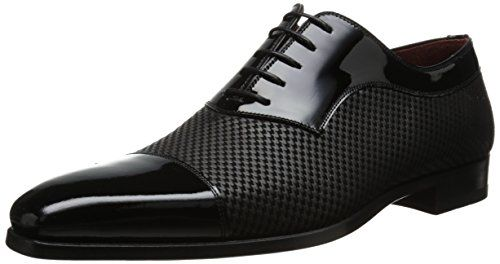 Magnanni Men's Tristan Tuxedo Oxford, Black, 7 M US Magnanni