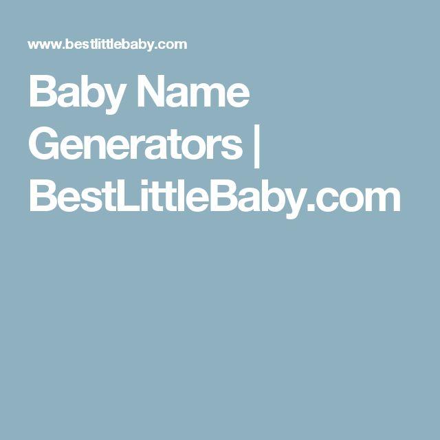 Baby Name Generators | BestLittleBaby.com