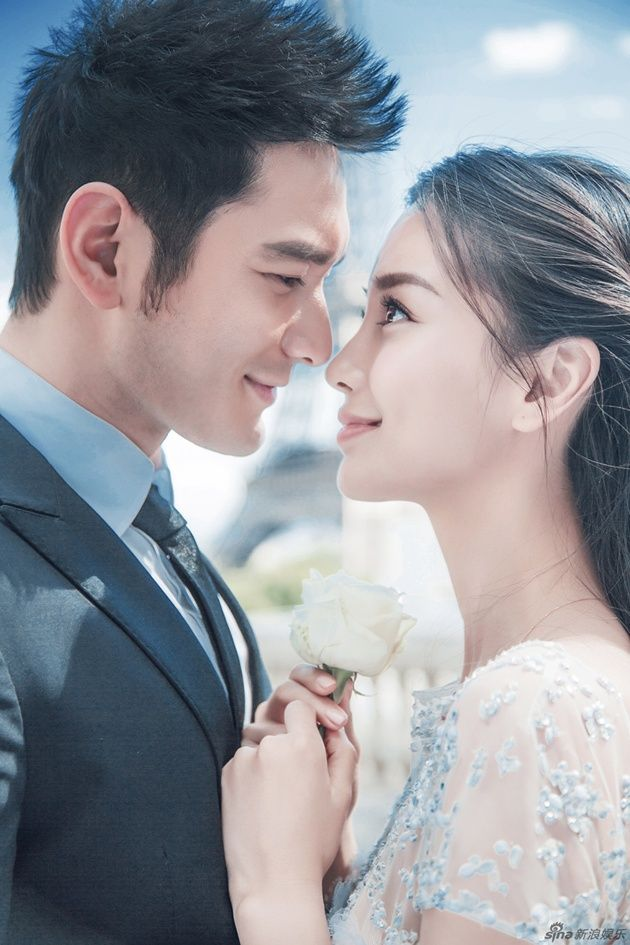 Foto Foto Pre Wedding Huang Xiaoming and Angelababy in Paris, France