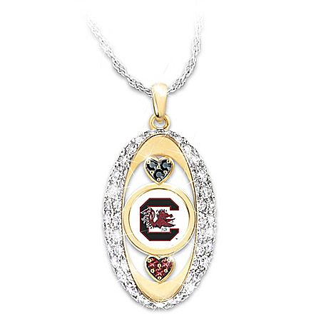 For The Love Of The Game South Carolina Gamecocks Pendant Necklace